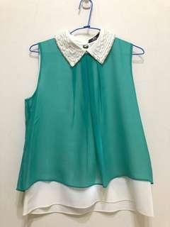 🚚 (幫媽媽賣系列)湖水綠上衣