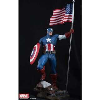 1/4 SCALE XM Studios Captain America OG 003/500 SIGNED!