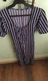 ♦️Repriced♦️ Unbranded Stripes Dress