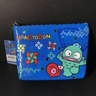 水怪藍色筆袋雜物袋化妝包 Sanrio Hangyodon