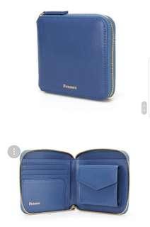 韓國代購 全新轉賣 fennec zipper wallet 真皮短夾