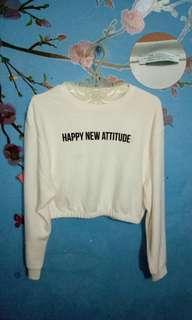 sweater zara crop