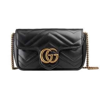 GUCCI MARMONT MATELASSÉ SUPER MINI BAG