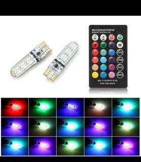 🚚 T10 RGB Colour Changing with Remote Control Battery Included