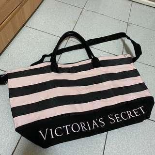 🚚 小資女孩👧維多莉亞的秘密(黑/粉條紋)#半價良品市集