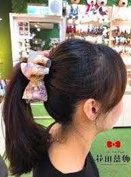 🚚 花田囍飾香蕉夾藍色蕾絲髮飾髮夾藍色
