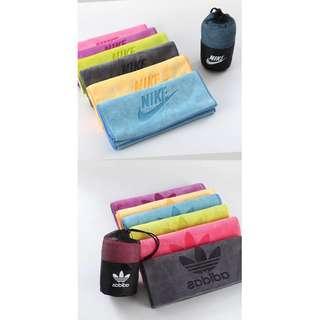 🚚 夏品默 NIKE / Adidas 運動毛巾六種顏色任選4條只要439元 (100x30CM) 運動巾/長毛巾/吸水巾