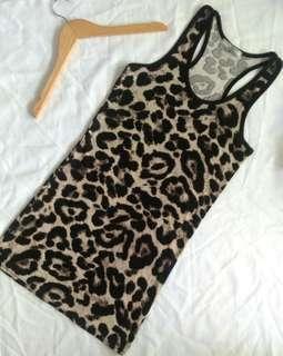 現貨💕棉質顯瘦豹紋背心💕彈性佳💕一年四季都可以穿搭💕