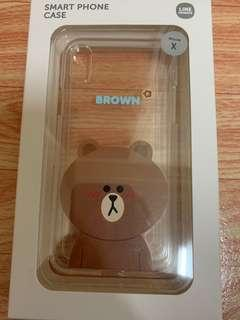 Line friends iphone X 手機殼 (Brown)