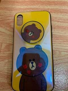 line friends iphoneX 手機殼 (Brown)