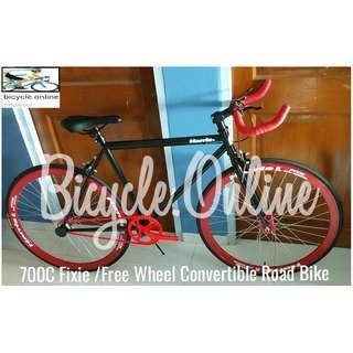 HARRIS  Fixie ☆ 700C Road Bike ☆ Flip flop hub, Free Wheel Convertible ☆ Dual Brakes ☆ Brand New Bicycle