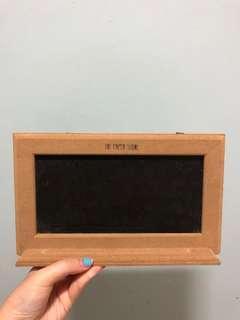 the paper stone black board