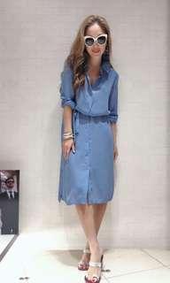 歐洲品牌 One piece藍色裙 多隻著法