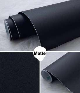 Matte and Glossy Plain Black PVC Stickers