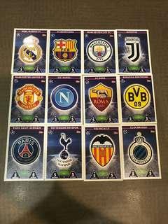 18/19 Champions league club badges