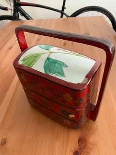 古舊瓷片漆盒(美國帶回)