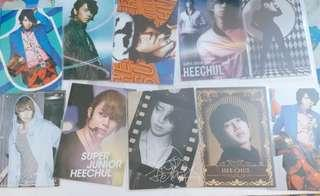Super junior 希澈 銀赫 Star collection card