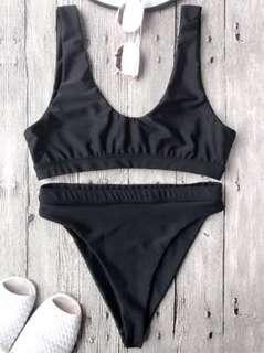 Zaful Cut Scoop Front Bikini Set (M)