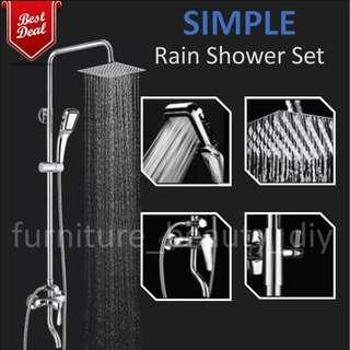 (Full Set) Quality & Simple Rain Shower Set Best Deal In Town !