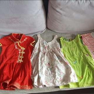 Girls Dress Bundles 3 To 5 Yrs