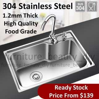 Wholesale Price 1.2mm Quality 304 Stainless Steel Kitchen Sink