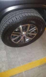 18 inch 4x4 rim Toyota fortuner, Hilux