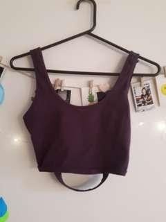 Crop top with partially open back