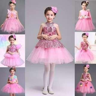 🚚 Princess Dress pink flower dress