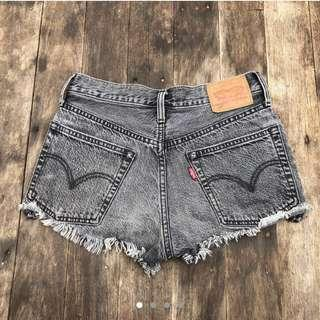 Vintage Levi's 501 Black Denim Shorts