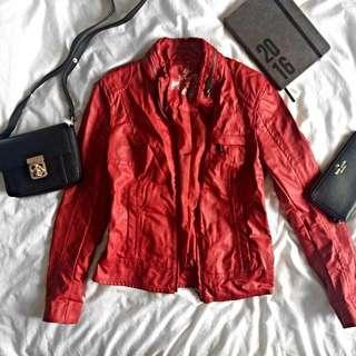 Esprit edc Red Leather Jacket