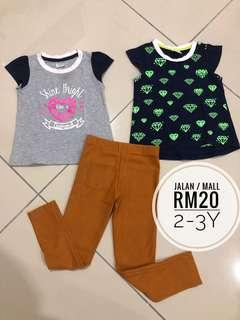 2y girl Jegging and shirt
