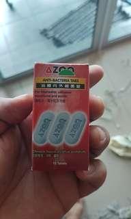 Aquarium antibacterial tablets