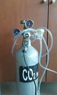 Co2 2Liter tank with electric solenoid