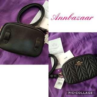 INSTOCK SPECIAL OFFER! Coach Quilted Belt Bag- Black Color (100% Authentic)