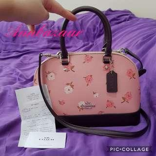 INSTOCK SPECIAL OFFER! Coach Mini Sierra in Tossed Peony Print- Petal Multi (100% Authentic)
