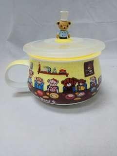 🚚 英國熊 微波胖胖杯/泡麵碗(包裝盒小毀損髒汙)