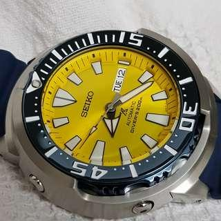 Seiko-5-baby-monster-deal butterfly fish limited edition 5 nations only