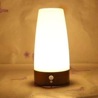 🚚 Creative home intelligent induction LED night light European style small table lamp Amazon hot cross-border spot