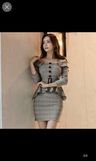 🚚 Grep strips peplum mini dress