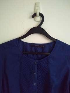Calvin Klein Jeans Blue Blouse Size M