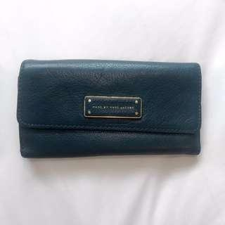 Marc Jacobs Dark Green Tri-fold Leather Wallet