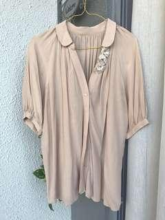 🚚 Ladies silk like blouse shirt