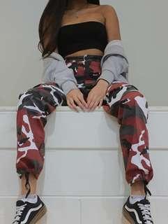 Red Camo Pants