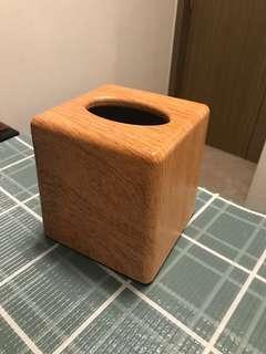 紙巾盒(木紋塑膠料) tissue box plastic case