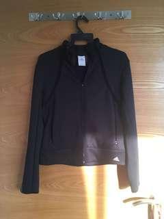 Adidas black workout jacket