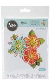 Ellison Sizzix Mix & Match Flowers Thinlits Die Set by Lori Whitlock (10 Pack)