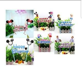 🚚 (3 for $5)Cartoon Cake Toppers series 1