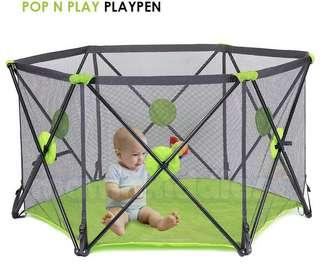 Pop up playpen play yard