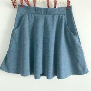 Chambray A-Line Skirt
