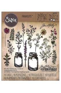 Sizzix Tholtz Framelits Die Flower Jar